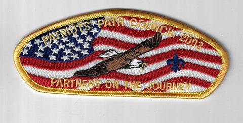 Patriots Path Council SAP SA-11 Partners On The Journey GLD Bdr. (DN $100) Florh
