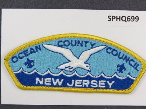 Ocean County Council New Jersey CSP Yellow Border - Scout Patch HQ