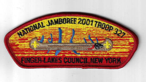 2001 National Jamboree JSP Troop 327 Finger Lakes Council New York RED Bdr. [ELL