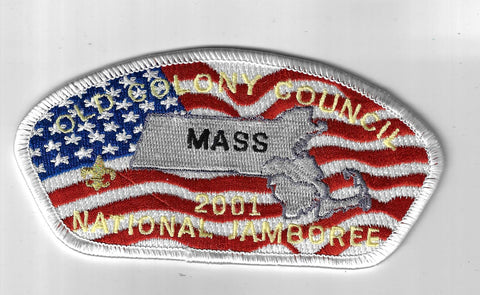 2001 National Jamboree JSP Old Colony Council MASS WHT Border [ELL-439]