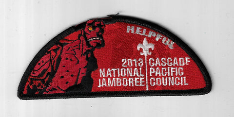 2013 National Jamboree JSP Cascade Pacific Council Helpful BLACK Border [ELL-903
