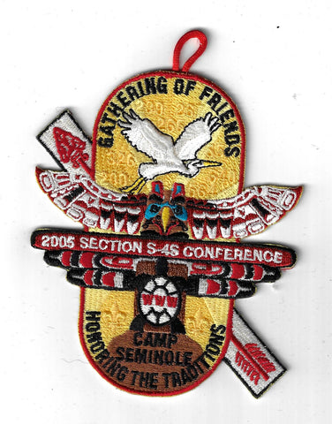 2005 OA Conclave Section S-4S Conference Camp Seminole RED Border [CLV-208]