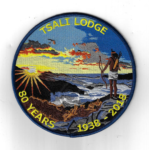 OA 134 Tsali 1938-2018 80 Years Jacket Patch NBL Bdr. Daniel Boone NC [JB-1096]