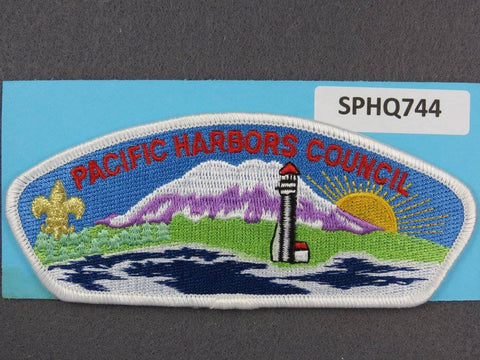 Pacific Harbors Council CSP White Border - Scout Patch HQ