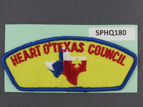Heart O' Texas Council CSP Blue Border - Scout Patch HQ