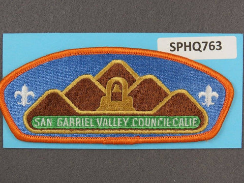 San Gabriel Valley Council California Orange Border - Scout Patch HQ
