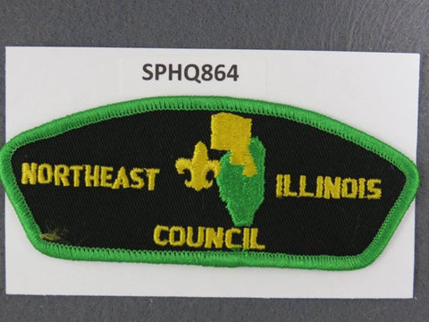 Northeast Illinois Council CSP Green Border - Scout Patch HQ