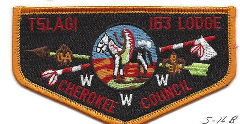 OA Lodge Tslagi S16b Flap Cherokee Council Changed Name 1987  [Y755]