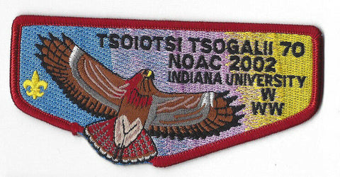 OA Lodge  70 Tsoiotsi Tsogalii S13 Flap 2002 NOAC Issue [Y804]