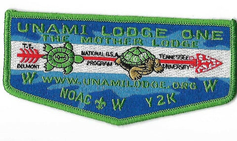 OA 1 Unami Y2K NOAC S29 Lodge Flap GRN Bdr. Cradle of Liberty PA [NAN-365]