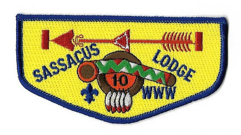 OA 10 Sassacus S20a Vigil BSA Flap RBL Bdr. Indian Trails CT [NAN-382]