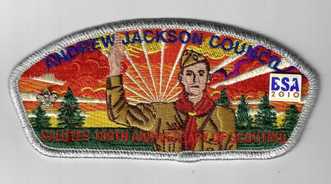 Andrew Jackson Council SAP SA-21 Salutes 100th Ann. Of Scouting SMY. Bdr. (CSI $