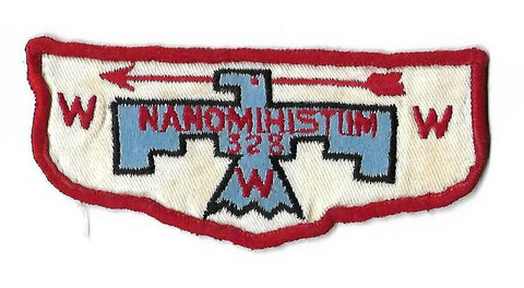 OA 328 Nanomihistum F2 Flap RED Border (sewn) [NAN-981]
