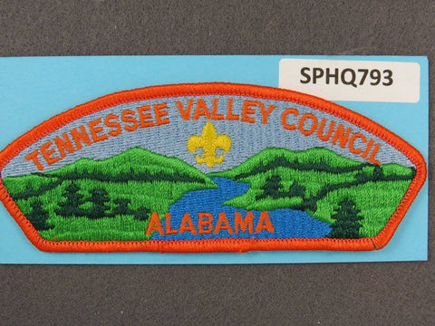 Tennessee Valley Council Alabama CSP Orange Border - Scout Patch HQ