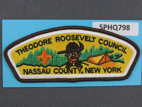 Theodore Roosevelt Council New York CSP Brown Border - Scout Patch HQ