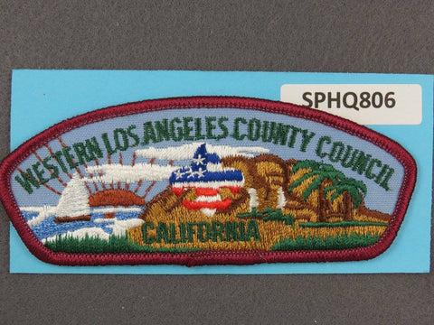 Western Los Angeles County  Dark Red Border [SPHQ806]##