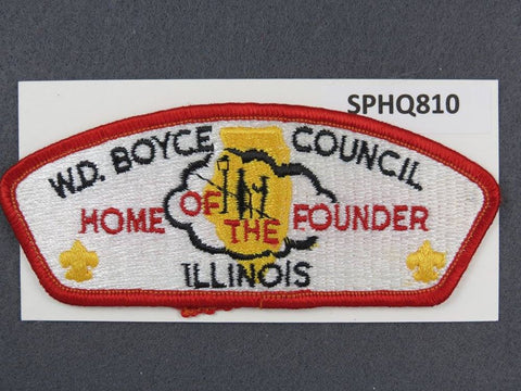 W. D. Boyce Council Illinois CSP Red Border