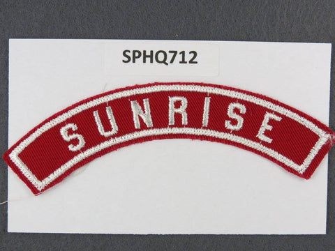 SUNRISE Red and White Community Strip RWS - Scout Patch HQ