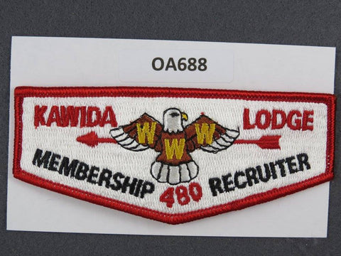 OA Lodge # 480 Kawida Membership Recruiter Blue Grass  Flap [OA688]**