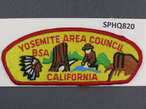 Yosemite Area Council California CSP Red Border - Scout Patch HQ
