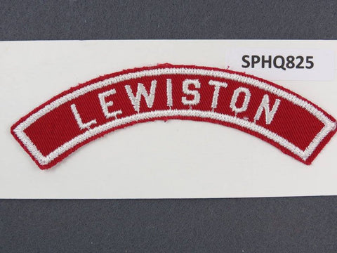 LEWISTON Red and White Community Strip RWS - Scout Patch HQ