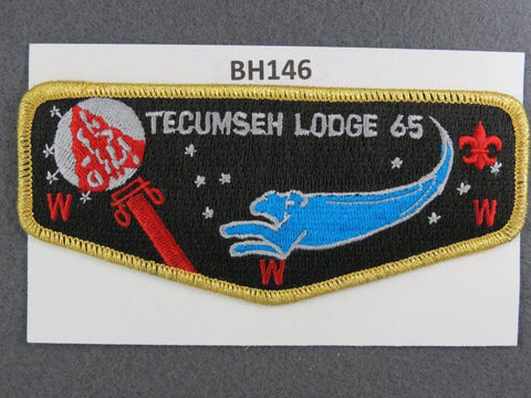 OA Lodge # 65 Tecumseh Flap GMY Border Simon Kenton Council