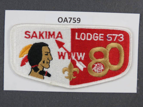 OA Lodge # 573 Sakima White Border LaSalle   Flap [OA759]**