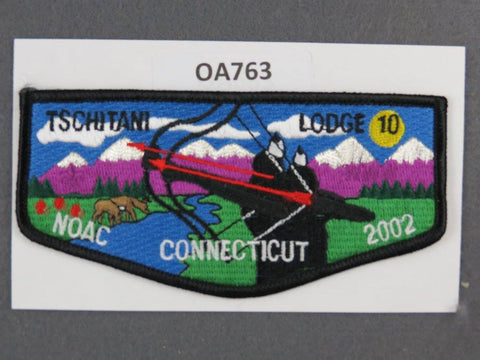 OA Lodge # 10 Tschitani Black Border Connecticut Rivers Council  Flap