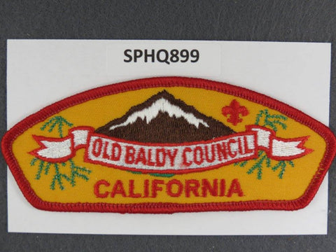 Old Baldy Council California CSP Red Border - Scout Patch HQ