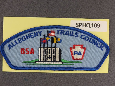 Allegheny Trails Council CSP Blue Border - Scout Patch HQ