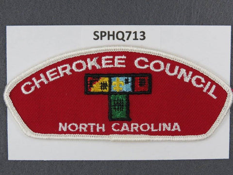 Cherokee Council North Carolina CSP White Border - Scout Patch HQ