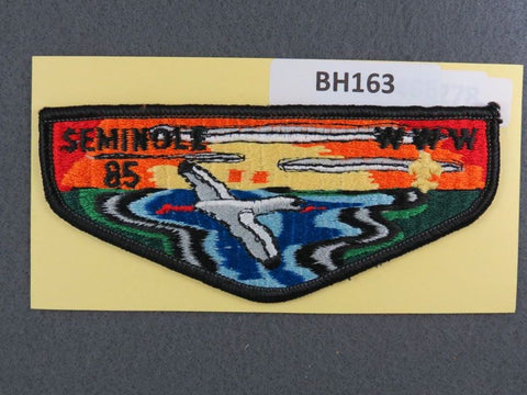 OA Lodge # 85 Seminole Black Border Flap Gulf Ridge  [BH163]**