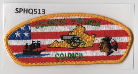 Colonial Virginia Council CSP Yellow Border - Scout Patch HQ