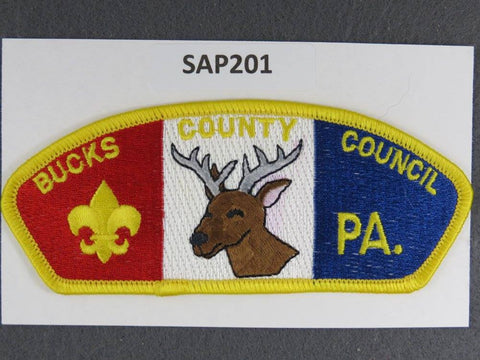 Bucks County Council Pennsylvania CSP Yellow Border - Scout Patch HQ