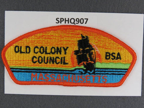 Old Colony Council Massachusetts CSP Orange Border - Scout Patch HQ
