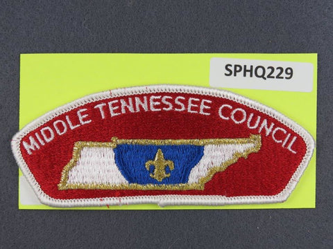 Middle Tennessee Council CSP White Border