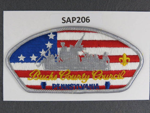 Bucks County Council Pennsylvania CSP Grey Border - Scout Patch HQ