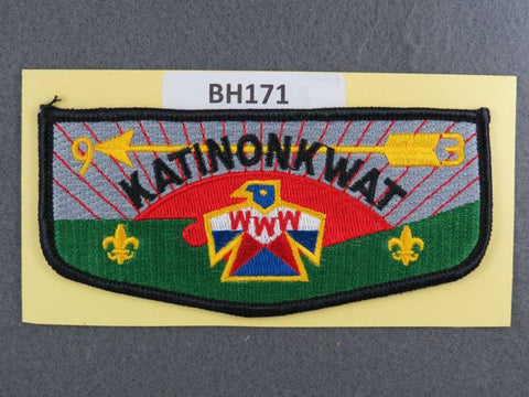 OA Lodge # 93 Katinonkwat Black Border Central Ohio  [BH171]**
