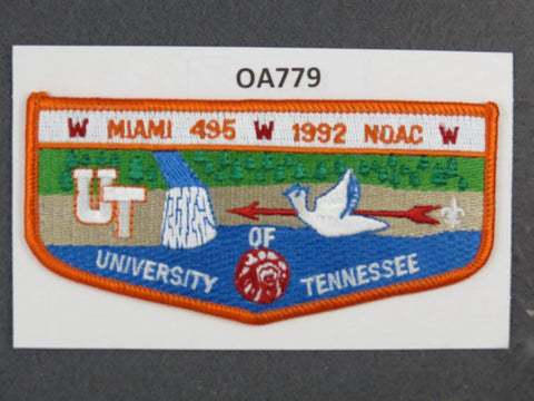 OA Lodge # 495 Miami Orange Border Miami Valley   Flap [OA779]**