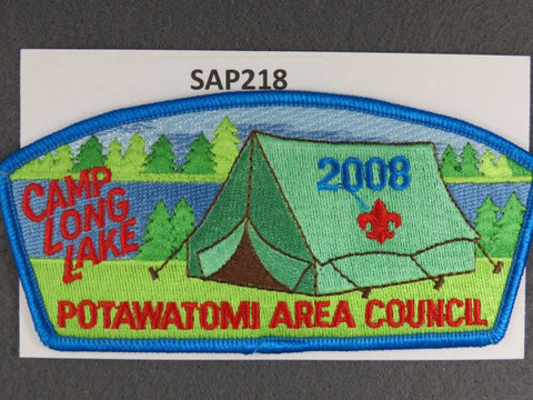 Potawatomi Area Council CSP 2008 Camp Long Lake Blue Border