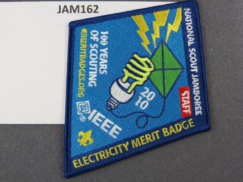 2010 National Scout Jamboree Electricity Merit Badge Blue Border [JAM162]^^