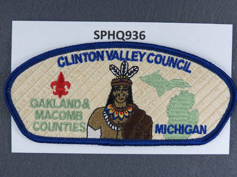 Clinton Valley Council Michigan CSP Dark Blue Border - Scout Patch HQ