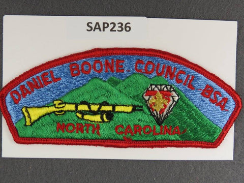 Daniel Boone Council North Carolina CSP 1985 Diamond Jubilee Red Border - Scout Patch HQ
