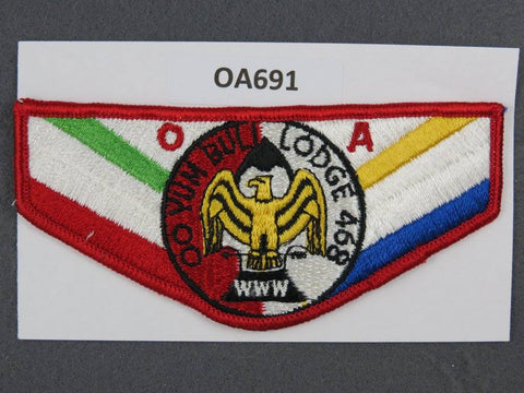 OA Lodge # 468 Oo Yum Buli Red Border Mount Diablo   Flap [OA691]**