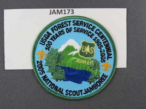 2005 National Scout Jamboree USDA Forest Service Centennial Green Border [JAM173]^^