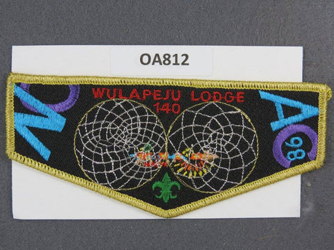 OA Lodge # 140 Wulapeju Gold Border Blackhawk Area Council  Flap