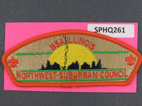 Northwest Suburban Council Illinois CSP Orange Border - Scout Patch HQ