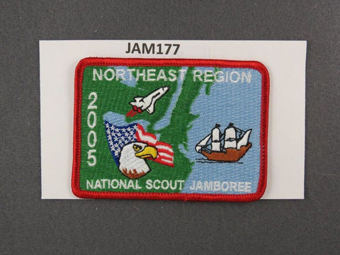 2005 National Scout Jamboree Northeast Region Red Border [JAM177]^^