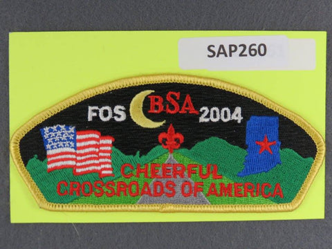 Crossroads of America CSP 2004 Friends of Scouting FOS Yellow Border - Scout Patch HQ