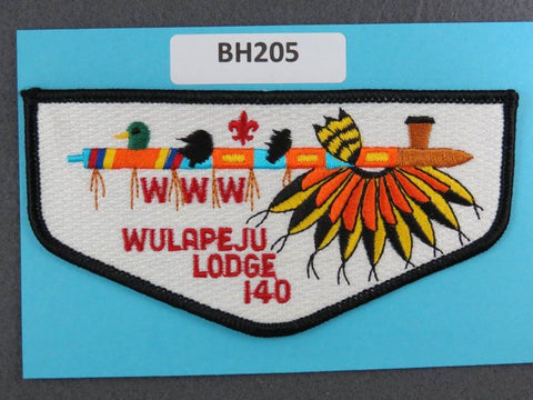 OA Lodge # 140 Wulapeju Flap Black Border Blackhawk Area  [BH205]**